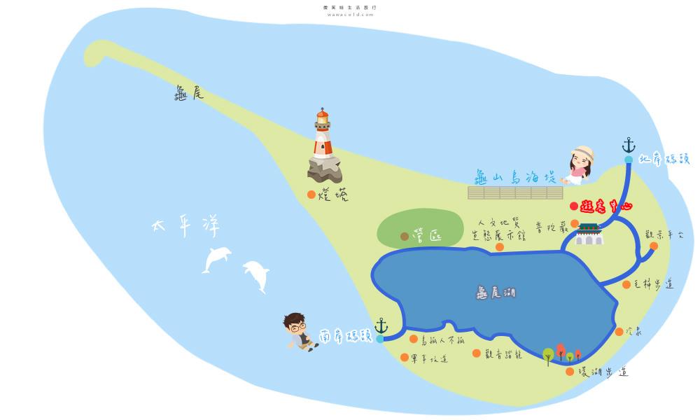 龜山島map